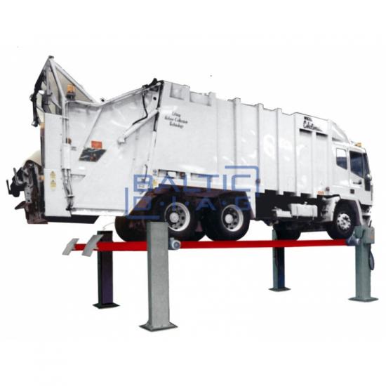 Vilkikų elektro mechaninis keturių kolonų keltuvas - Butler Logic Truck