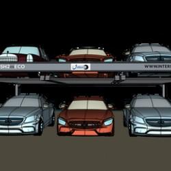 Šešių parkingo vietų keltuvas int-PSH3-eco